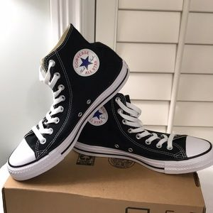 Converse Black men's size 8 high top NWT
